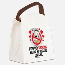Stopped-Smoking-Husband.png Canvas Lunch Bag