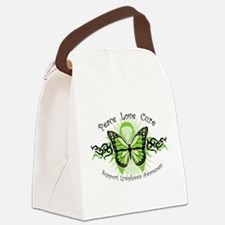 Lymphoma-Tribal-Butterfly.png Canvas Lunch Bag