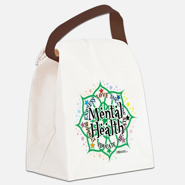 Mental-Health-Lotus.png Canvas Lunch Bag