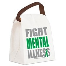 Fight-Mental-Illness.png Canvas Lunch Bag