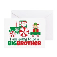 Santa Tractor Big Brother To Be Greeting Card