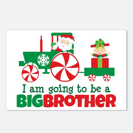 Santa Tractor Big Brother To Be Postcards (Package