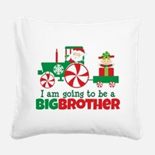 Santa Tractor Big Brother To Be Square Canvas Pill