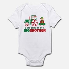 Santa Tractor Big Brother To Be Infant Bodysuit
