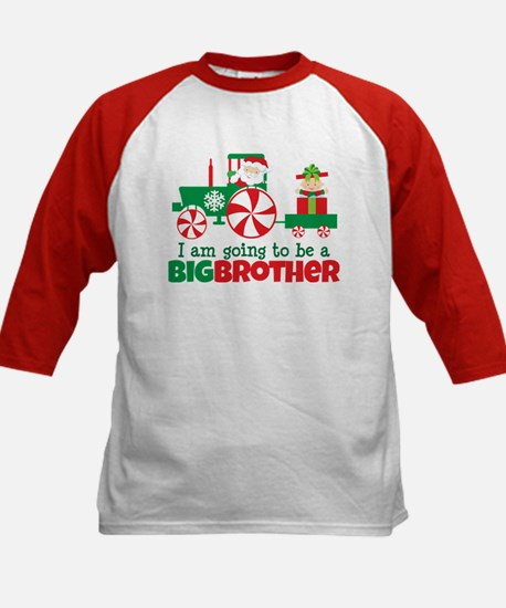 Santa Tractor Big Brother To Be Kids Baseball Jers