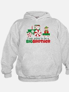 Santa Tractor Big Brother To Be Hoodie