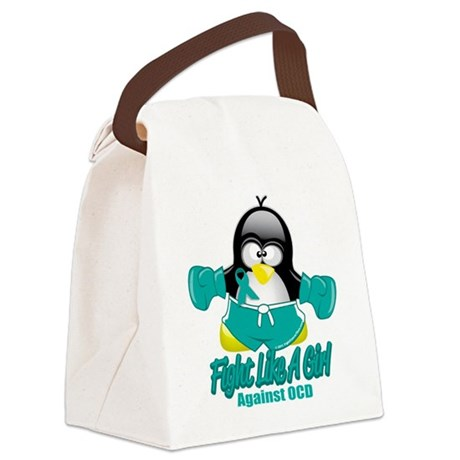 OCD-Fighting-Penguin.png Canvas Lunch Bag
