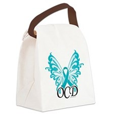 OCD-Butterfly-Ribbon.png Canvas Lunch Bag
