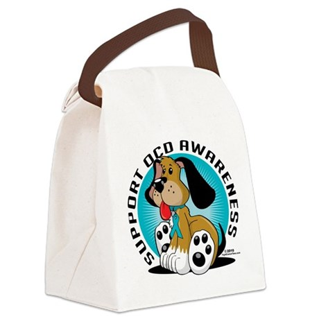 OCD-Dog.png Canvas Lunch Bag
