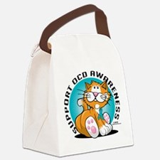 OCD-Cat.png Canvas Lunch Bag