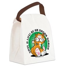 Organ-Donor-Cat.png Canvas Lunch Bag
