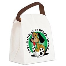 Organ-Donor-Dog.png Canvas Lunch Bag