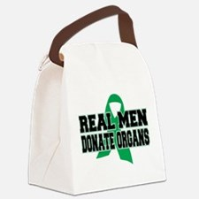Real Men Donate Organs Canvas Lunch Bag
