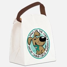 Paws-for-the-Cure-Ovarian.png Canvas Lunch Bag