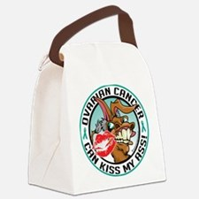 Ovarian-Cancer-Kiss-My-Ass.png Canvas Lunch Bag