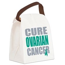 CURE OVARIAN CANCER.png Canvas Lunch Bag