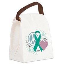 OC-Peace-Love-Cure.png Canvas Lunch Bag