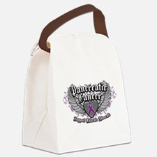 Pancreatic-Cancer-Wings.png Canvas Lunch Bag