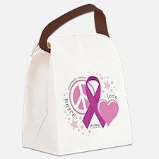Pancreatic Cancer: PLC Canvas Lunch Bag