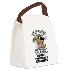 Paws-for-the-Cure-Parkinsons.png Canvas Lunch Bag
