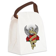 Parkinson's Heart & Dagger Canvas Lunch Bag