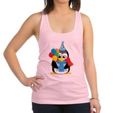 Happy-Birthday-Penguin-Scarf.png Racerback Tank To