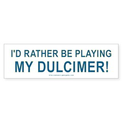 Dulcimer Bumper Bumper Sticker