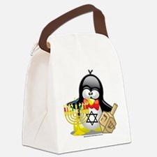 Penguin-Hanukkah.png Canvas Lunch Bag