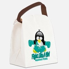 PCOS-Fighting-Penguin.png Canvas Lunch Bag