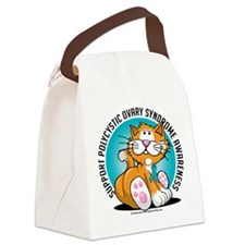 PCOS-Cat.png Canvas Lunch Bag