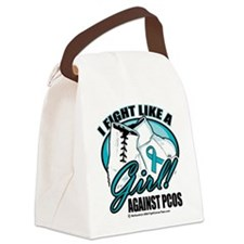 PCOS-Fight-Like-A-Girl.png Canvas Lunch Bag
