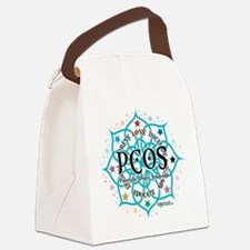 PCOS-Lotus.png Canvas Lunch Bag
