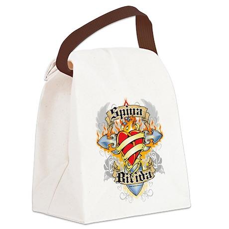 Spina-Bifida-Cross--Heart.png Canvas Lunch Bag
