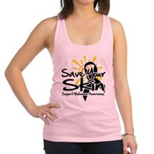 Save-Your-Skin.png Racerback Tank Top