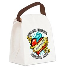 Tourette's Tattoo Heart Canvas Lunch Bag