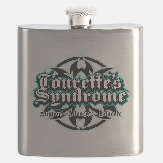 Tourette's Syndrome Tribal Flask