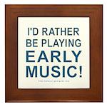 Early Music Framed Tile