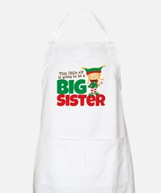 Elf going to be a Big Sister Apron