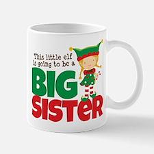 Elf going to be a Big Sister Small Small Mug