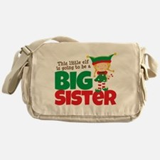 Elf going to be a Big Sister Messenger Bag