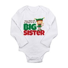 Elf going to be a Big Sister Long Sleeve Infant Bo