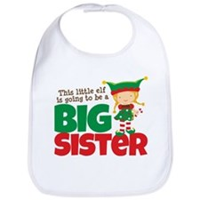 Elf going to be a Big Sister Bib