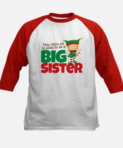Elf going to be a Big Sister Kids Baseball Jersey