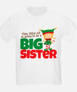 Elf going to be a Big Sister T-Shirt