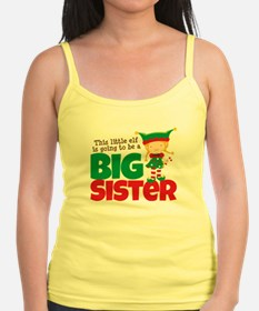 Elf going to be a Big Sister Jr.Spaghetti Strap