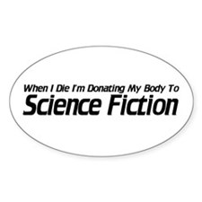 Donate to Sci-fi Oval Decal