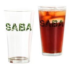 Saba, Vintage Camo, Drinking Glass