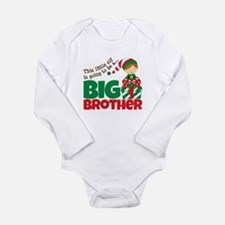 Elf Big Brother To Be Long Sleeve Infant Bodysuit