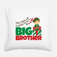 Elf Big Brother To Be Square Canvas Pillow
