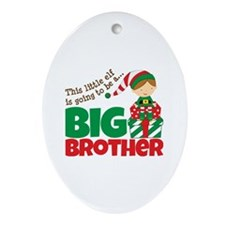 Elf Big Brother To Be Ornament (Oval)